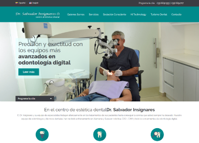 Doctor Salvador Insignares, centro de estetica dental | Web design and wordpress development